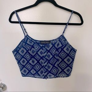 Almost Famous tribal print crop top